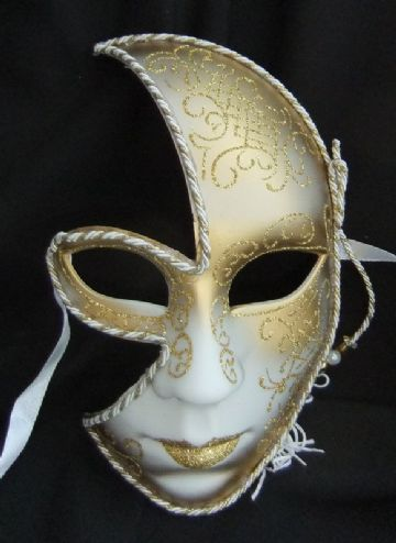 Ladies Face Gold Half Mask